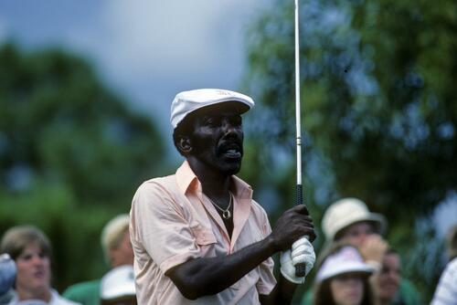 American Calvin Peete on the tee at the 1983 Ryder Cup