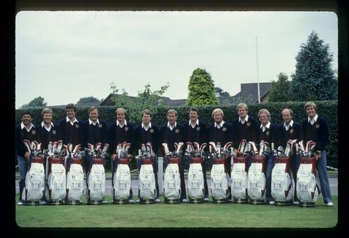 The 1981 United States Ryder Cup Team at Walton Heath