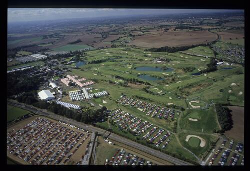 An aerial view of The Belfry at the 1989 Ryder Cup