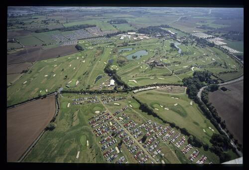 An aerial view of the 1989 Ryder Cup at The Belfry