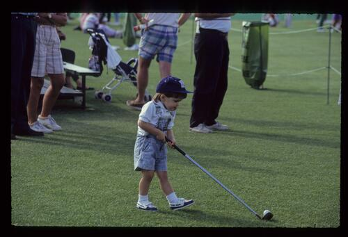 A young golfer of the future at the 1990 Nestle Invitational