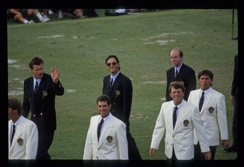 European golfer David Feherty smiles for the camera at the 1991 Ryder Cup Opening Ceremony