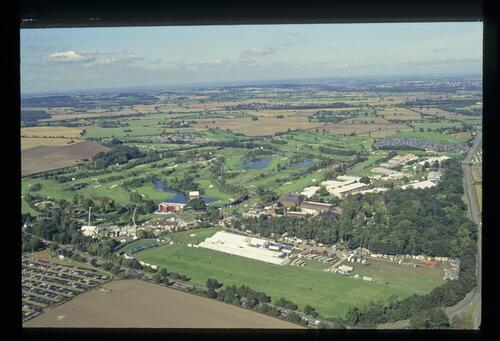 An aerial view of The Belfry site of the 1993 Ryder Cup