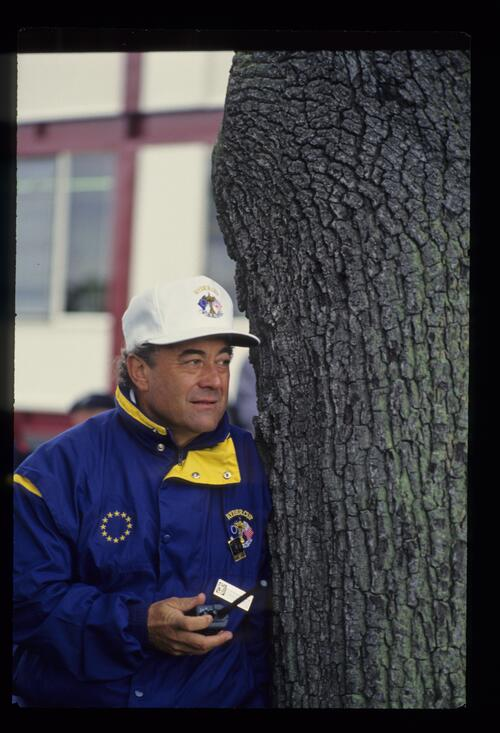 A European team vice-captain with walkie talkie at the 1993 Ryder Cup
