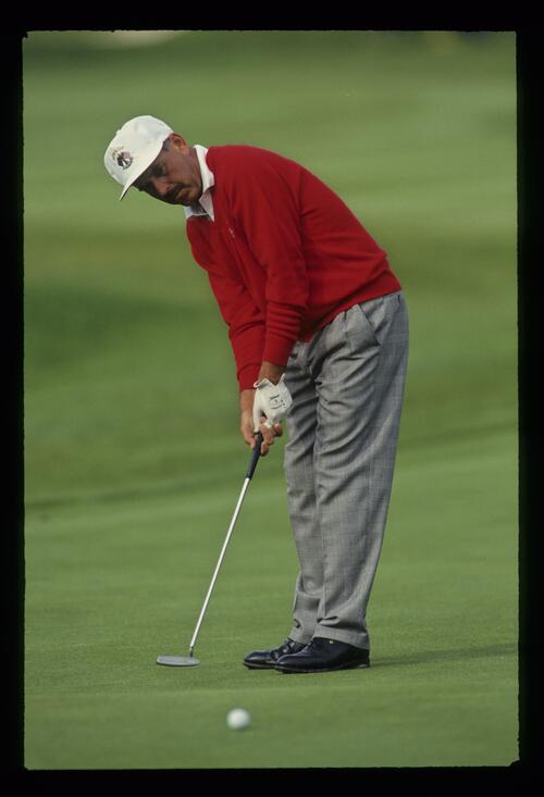 European golfer Mark James on the green at the 1993 Ryder Cup
