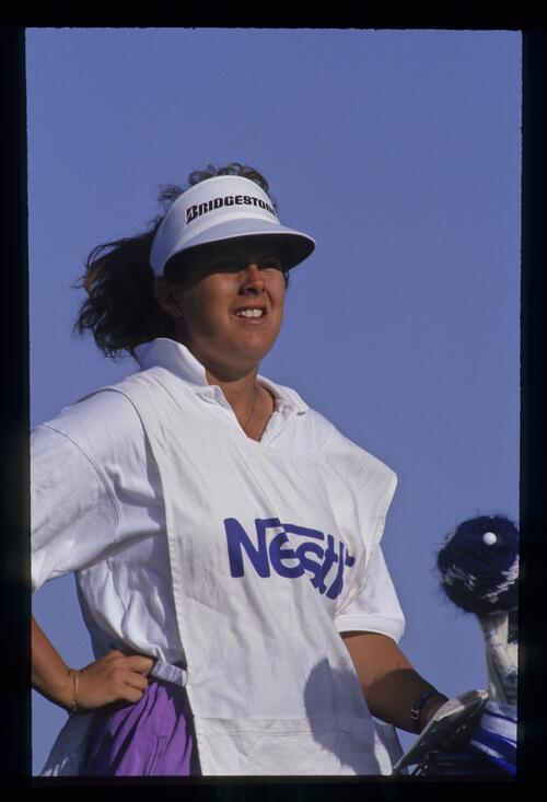 Fanny Sunesson waiting on the tee during the 1992 Nestle Invitational