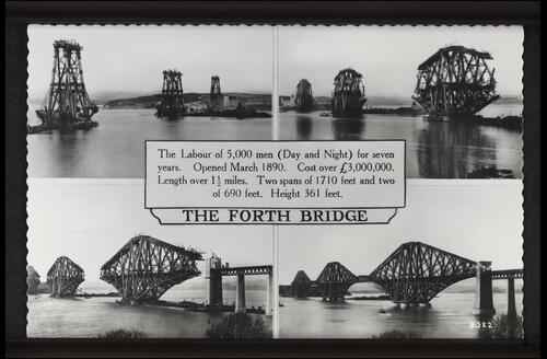 The Forth Bridge (with Dimensions).