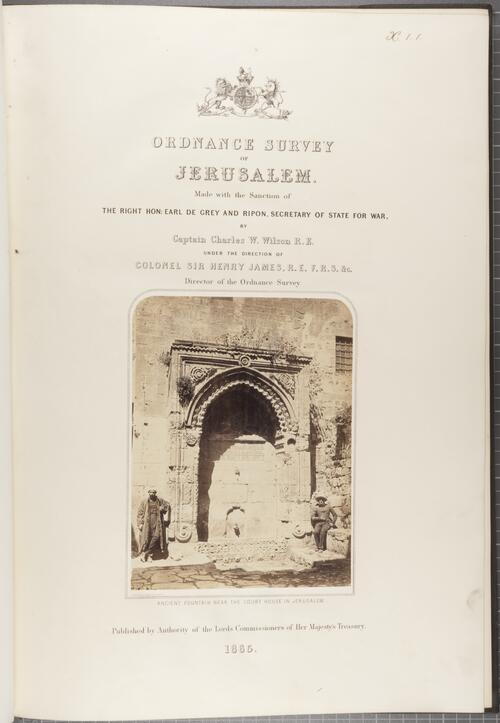 Ordnance Survey of Jerusalem.