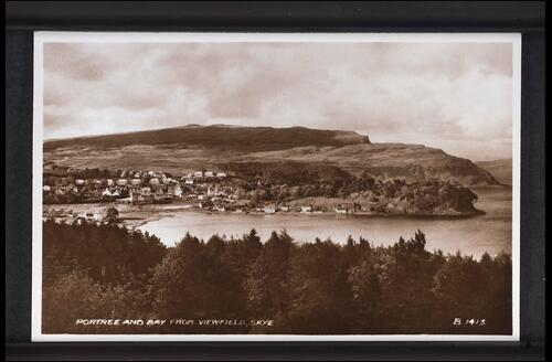 Portree and Bay from Viewfield, Skye.