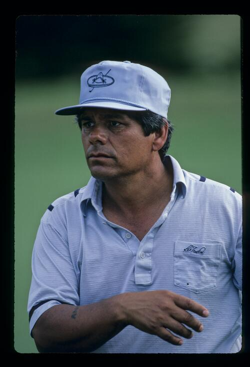 Lee Trevino with an intense stare during the 1984 Kapalua International