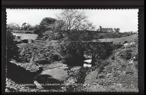 Corsehill Banks, Stewarton showing Old Castle.