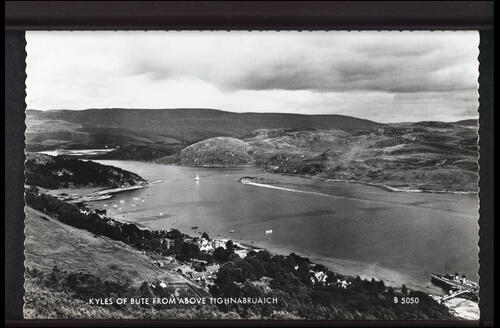 Kyles of Bute from above Tighnabruaich.