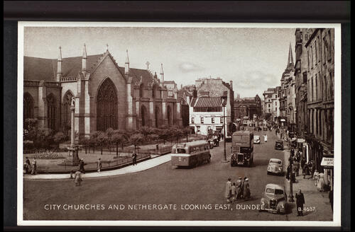 City Churches and Nethergate looking East, Dundee.