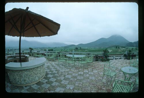 A view from the deck of the Clubhouse at the Chung Shan Hot Spring Golf Club