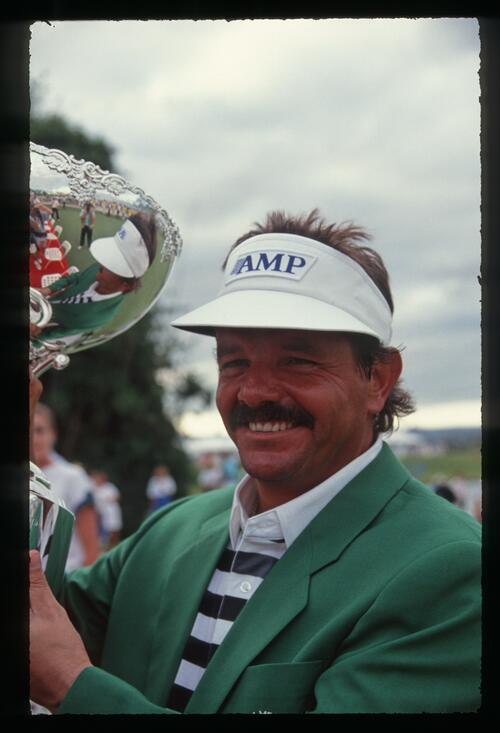 Golfer Rodger Davis takes home the 1990 Daikyo Palm Meadows Cup Championship