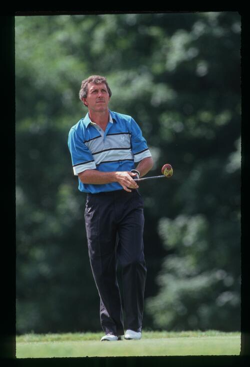 Hale Irwin on the tee at the 1991 US Open