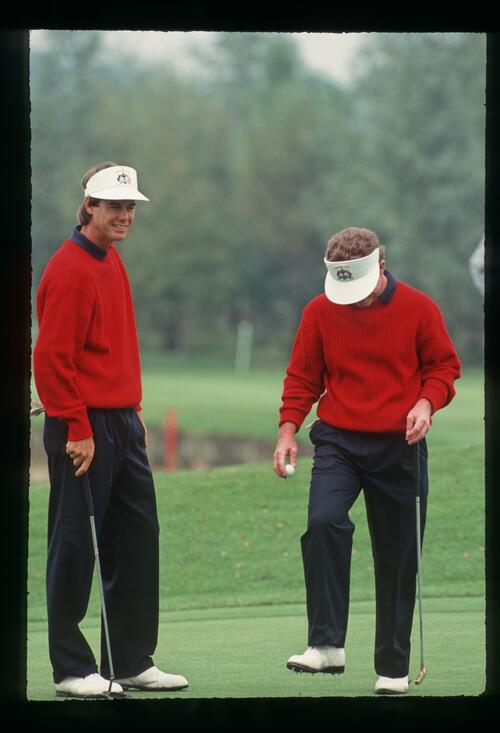 American players Paul Azinger and Tom Kite at the 1993 Ryder Cup at The Belfry