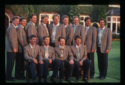 The victorious 1993 United States Ryder Cup Team at The Belfry