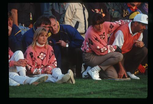 European players and fans closely watch the action at the 1993 Ryder Cup