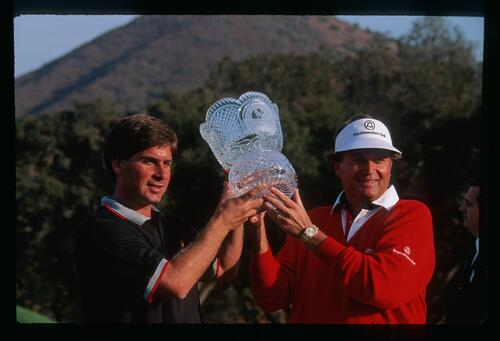 Golfers Fred Couples and Ray Floyd win the 1990 Ronald McDonald Children's Charity Golf Tournament