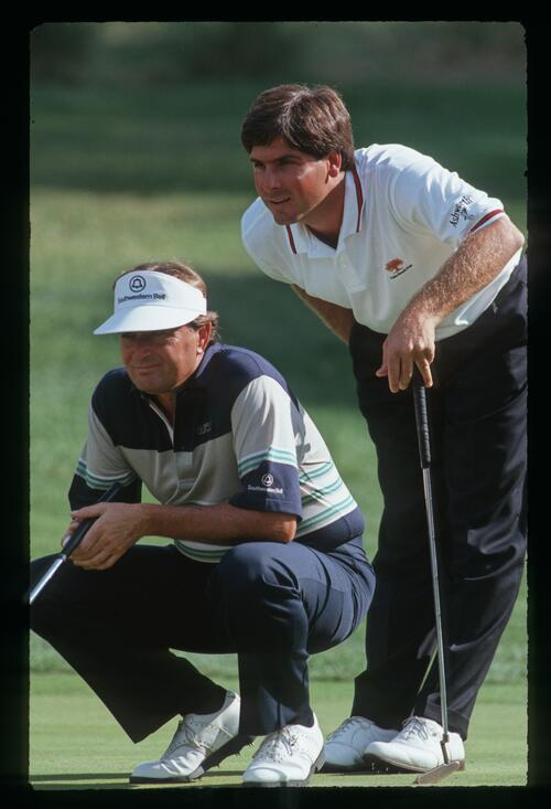 The winning combination of Fred Couples and Ray Floyd at the 1990 Ronald McDonald Children's Charity Golf Tournament