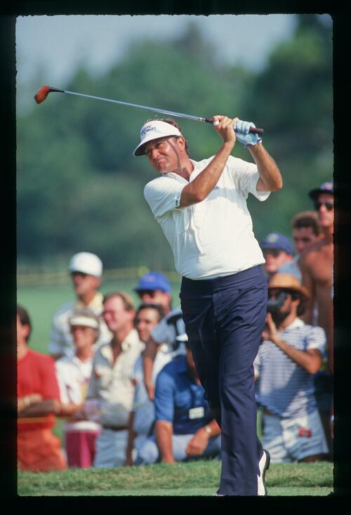 Raymond Floyd on the tee at the 1987 U. S. PGA at The PGA National