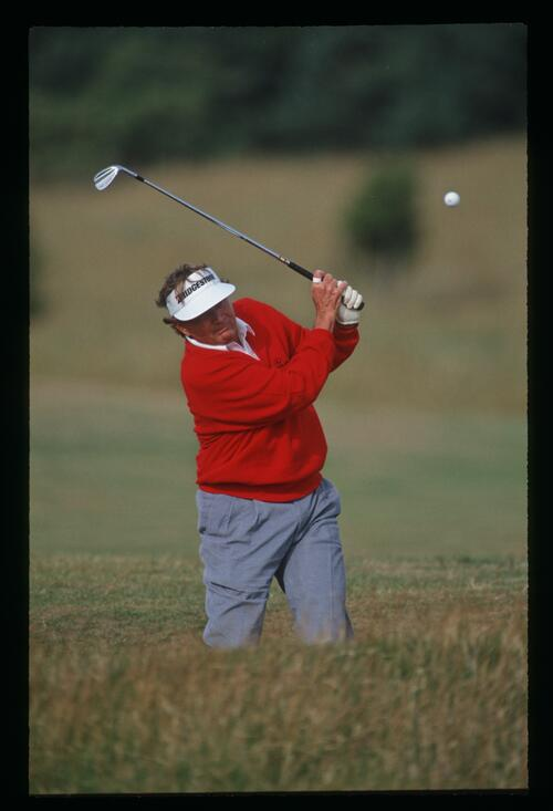 Ray Floyd plays his wedge from the rough at the 1992 Open Championship at Muirfield