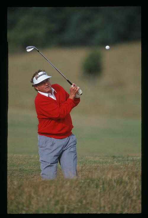 Ray Floyd gets out of the rough at the 1992 Open Championship