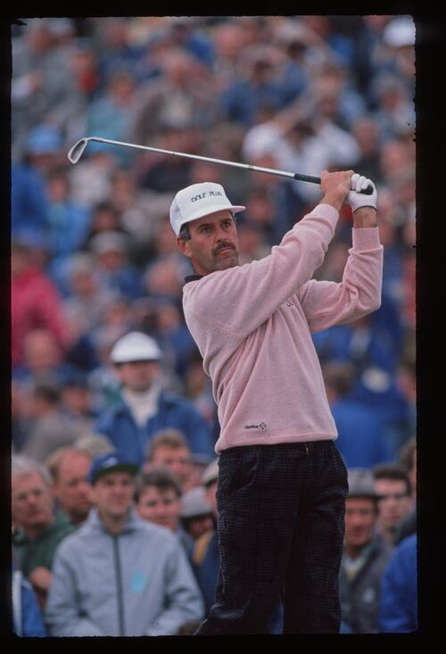Mark James on the tee at the 1988 Open Championship at Royal Lytham and St Annes