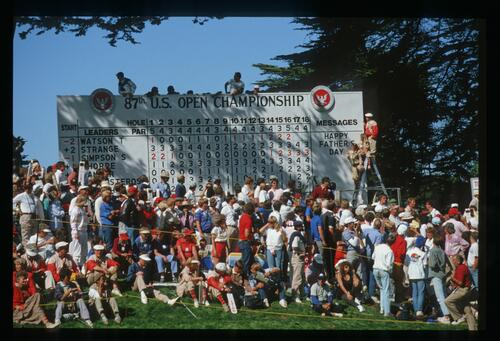The scoreboard tells the story of a thrilling climax during the 1987 US Open