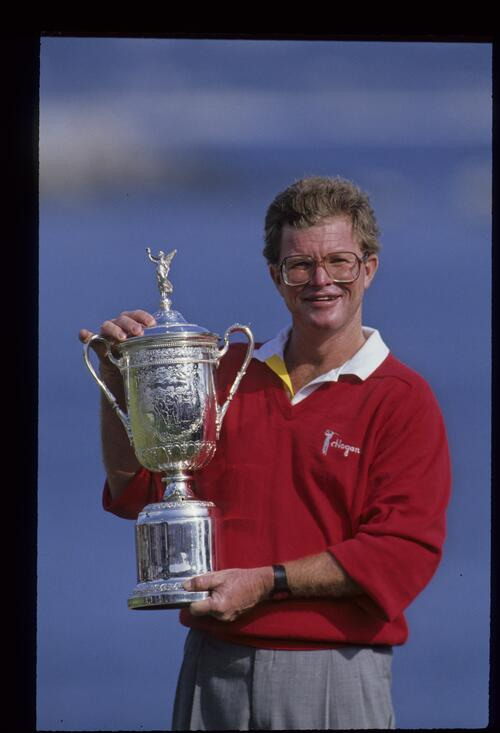 Tom Kite smiles with the 1992 US Open Trophy, astonishingly his only major title