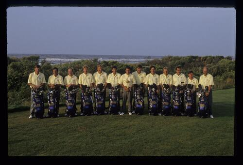 The 1991 European Ryder Cup Team at Kiawah Island