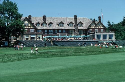 The imposing clubhouse at Baltusrol, venue for the 1980 US Open