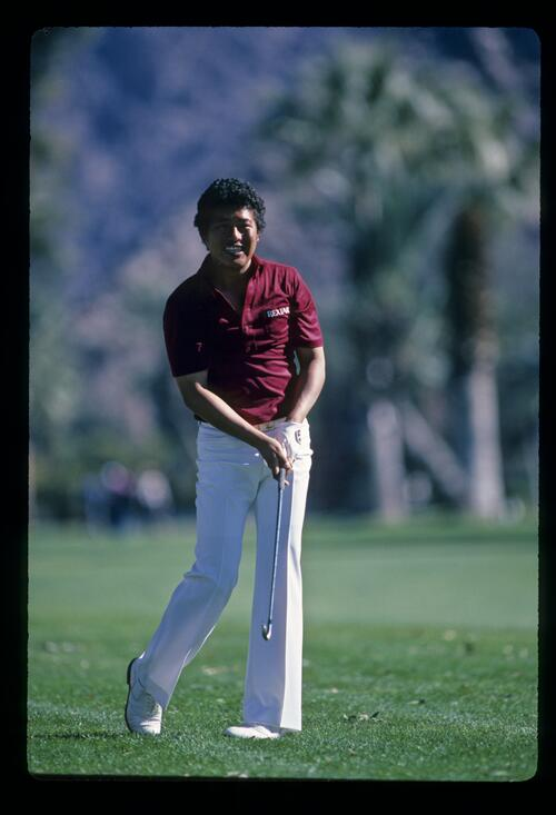 Japanese golfer Tateo Ozaki in action at the 1982 Bob Hope Desert Classic