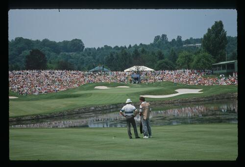 The treacherous sixth hole awaits during the 1989 US Open Championship