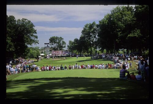 The long, par-three 13th hole during the 1991 US Open