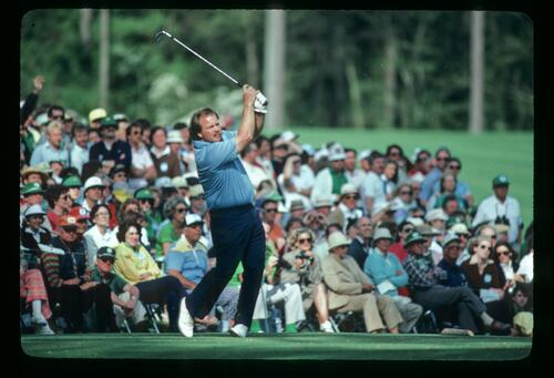 Craig Stadler on the tee during the 1983 Masters