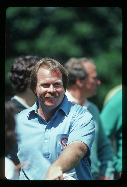 Craig Stadler smiling during the 1983 Masters