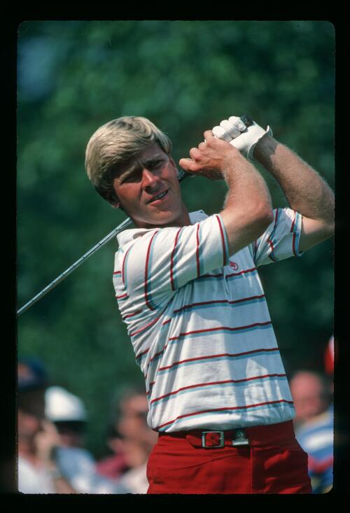 Hal Sutton on the tee at the 1984 US Open