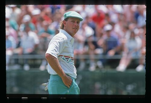 Golfer Payne Stewart at the 1988 United States Open Championship at Brookline