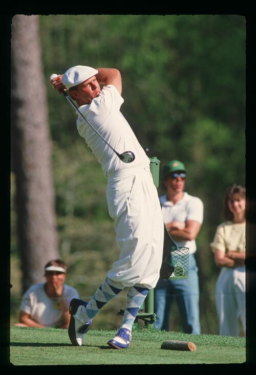 Payne Stewart on the tee at Harbour Town during the 1988 Heritage Classic