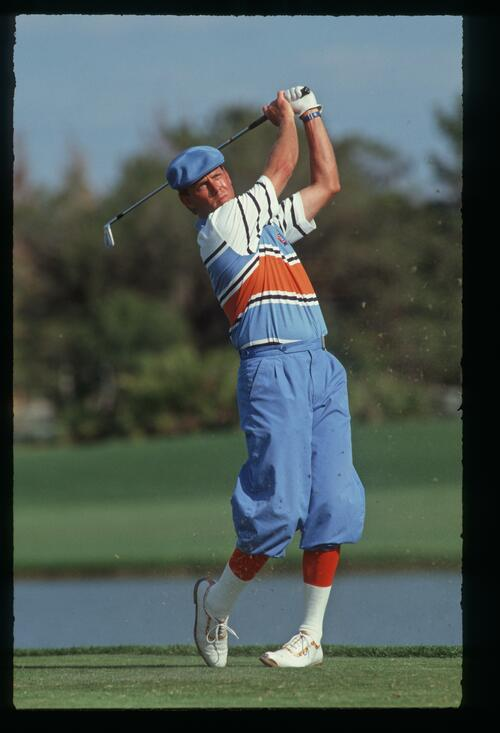 Payne Stewart tees off at the 1990 Nestle Invitational at Bay Hill