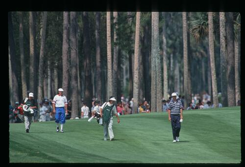 Payne Stewart walks the fairway at The Players Championship at Sawgrass