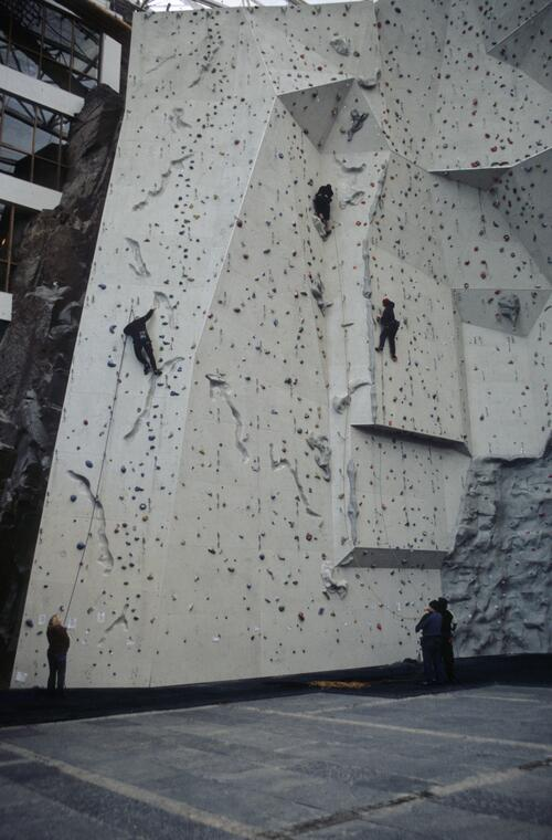 The Edinburgh International Climbing Arena, near Ratho.