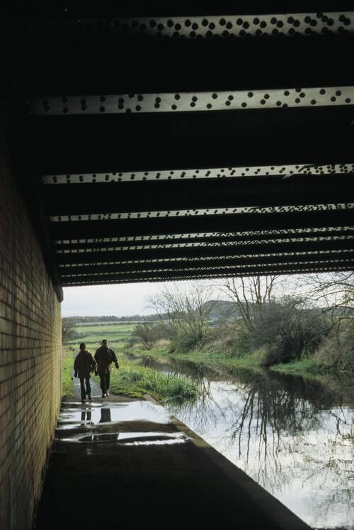 [The Union Canal passes] Under the A89 near Broxburn