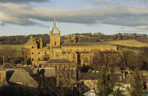 St Michael's Church and the Palace, Linlithgow.