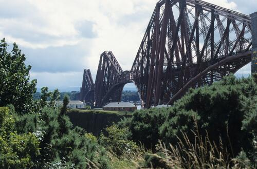 The Forth Bridge from the Fife shore.
