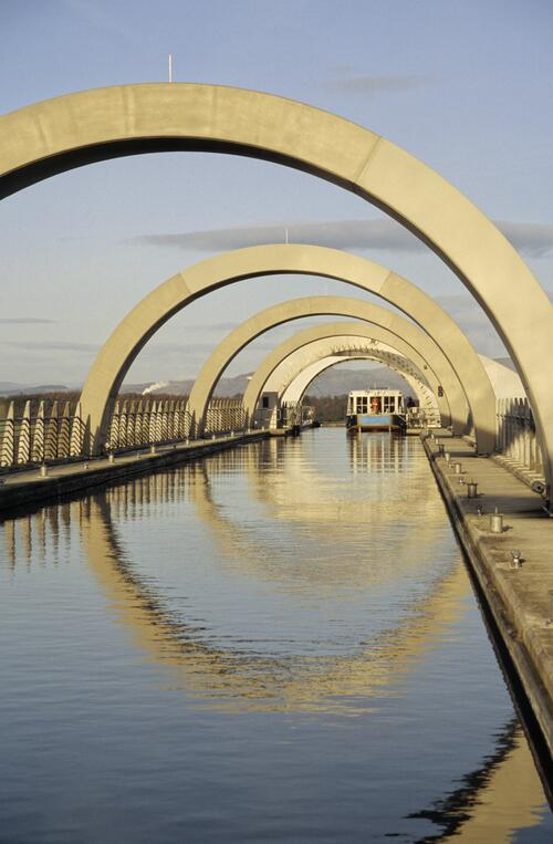 The Falkirk Wheel Aqueduct.