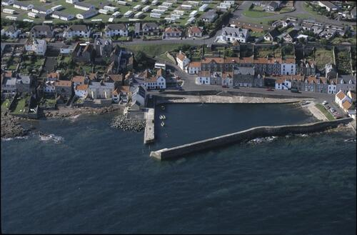 Cellardyke harbour from the air.