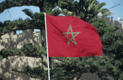Flag of Morocco.